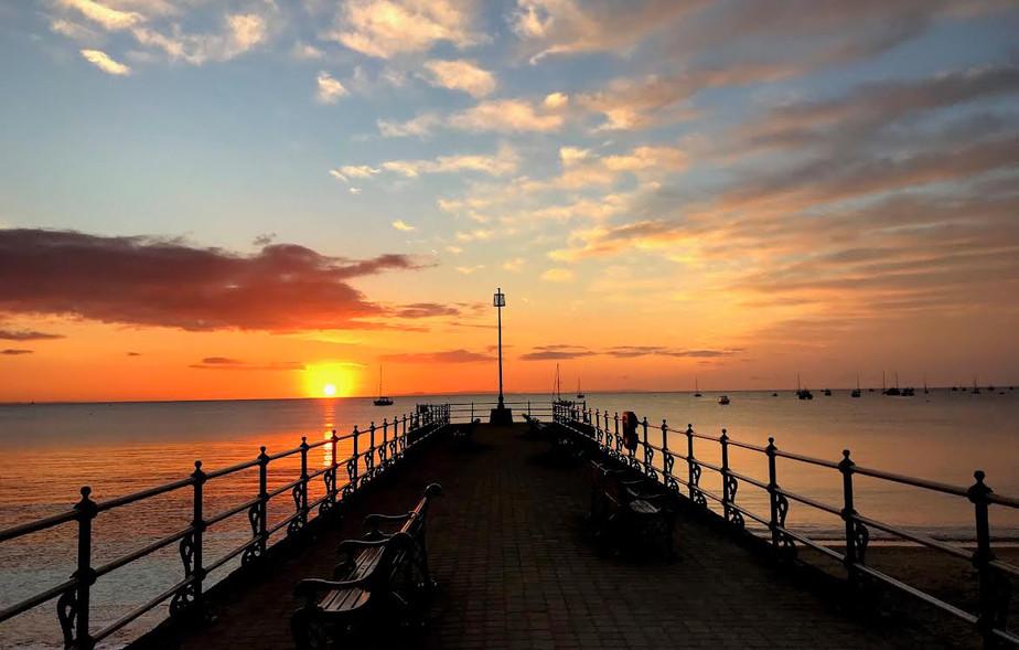Sunrise at Banjo Pier, Swanage