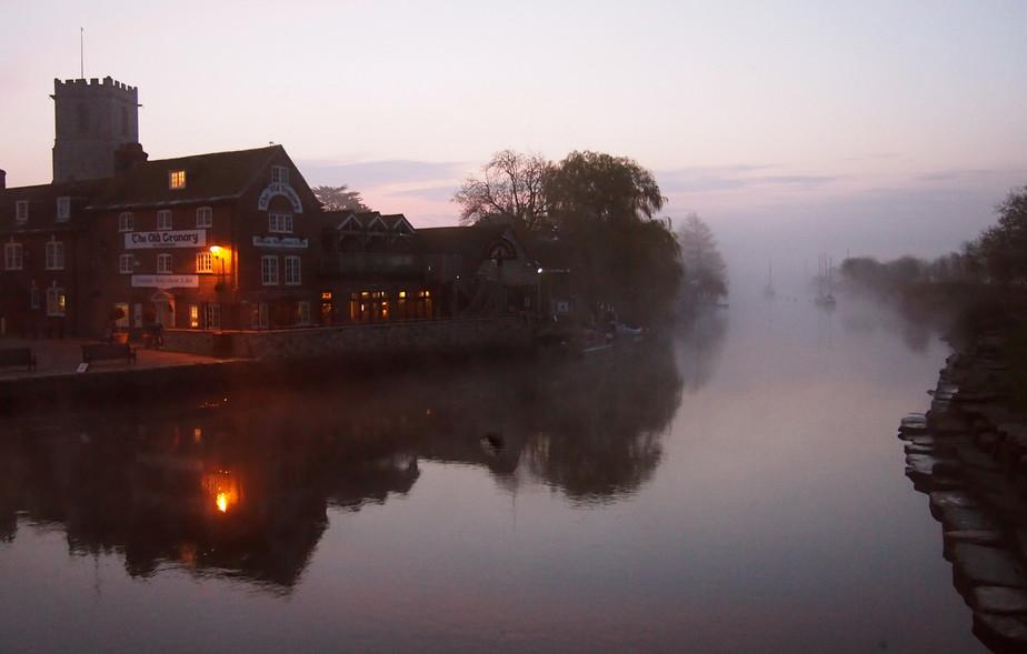 Misty Sunrise at Wareham Quay