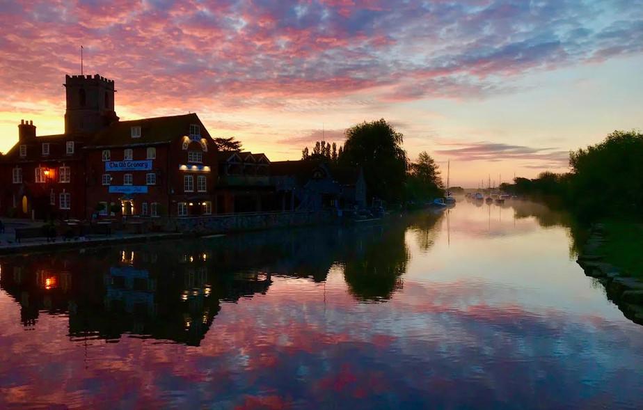Fiery Sunrise Wareham Quay