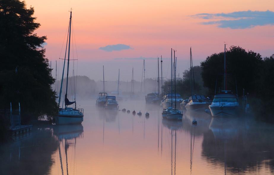 Wareham Misty Morning Sunrise