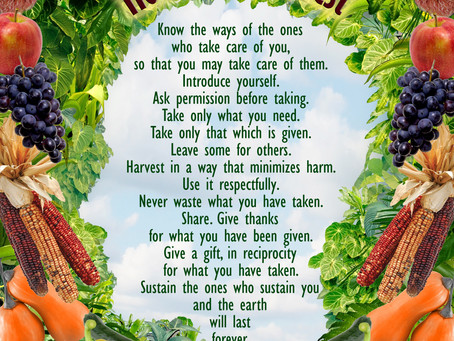 Sage Advice & The Honorable Harvest