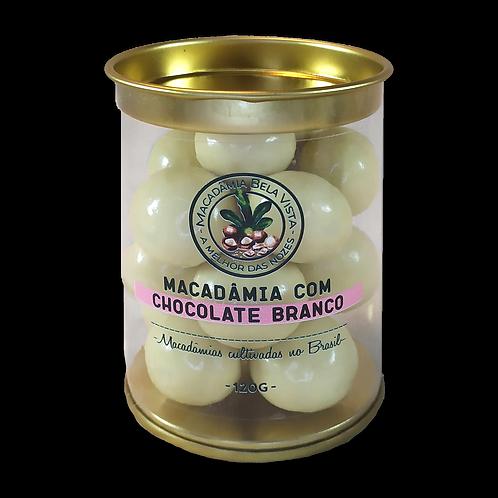 Macadâmia com chocolate branco -120g ou 350g