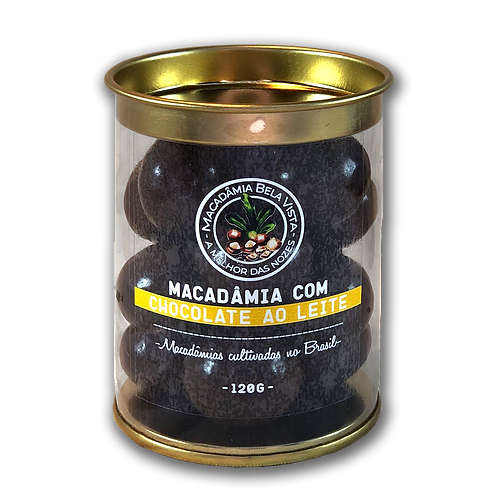 Macadâmia com chocolate ao leite -120g ou 350g