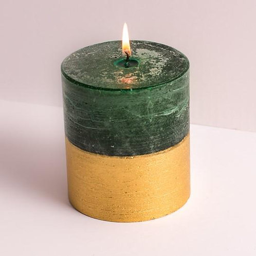 Gold Dipped Winter Bay Candle