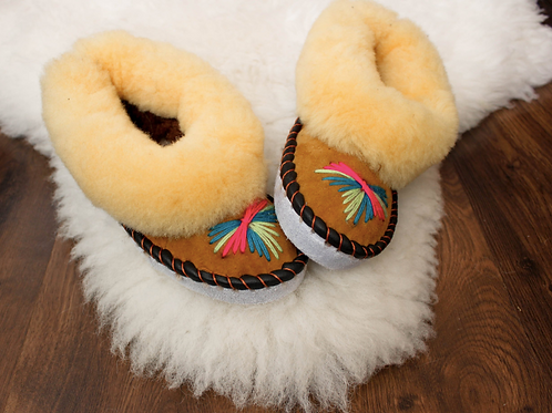 Luxury Snuggle Slippers - Camel