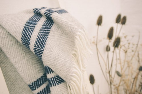 Zennor Herringbone Blanket