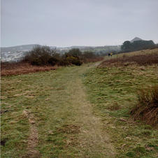 Caerloggas down path atop penwithick sid