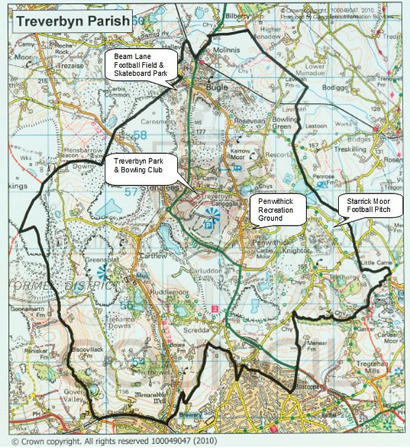 Map of the Treverbyn Parish Council