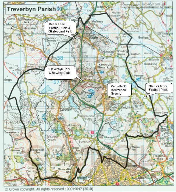Map of Treverbyn Parish Council