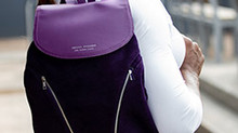 Serena Williams combines style and charity for the Allstate Foundation Purple Purse Challenge