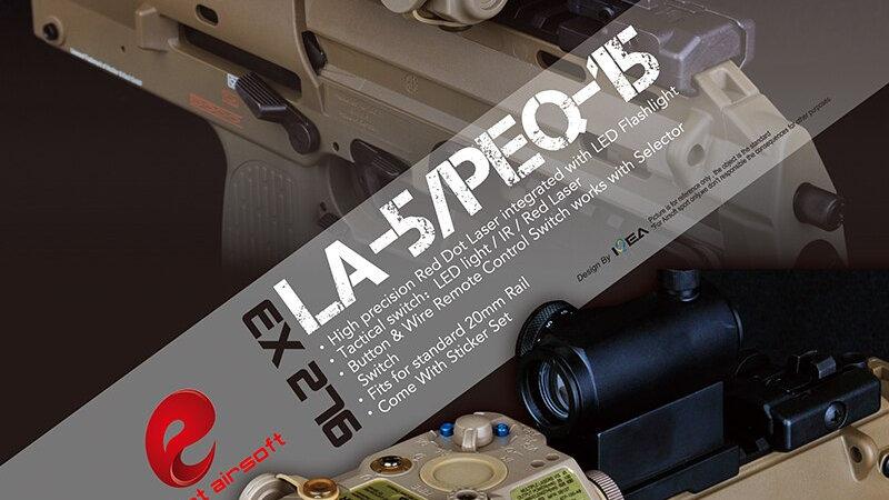 Element PEQ 15 Tactical Flashlight Laser IR Red Laser Airsoft PEQ 15 EX276