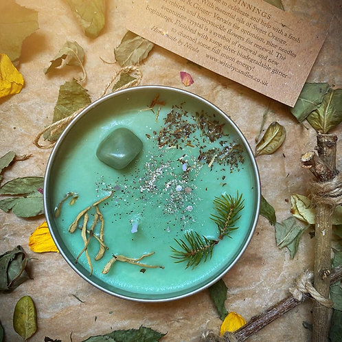 NEW BEGINNINGS Witchy Candle