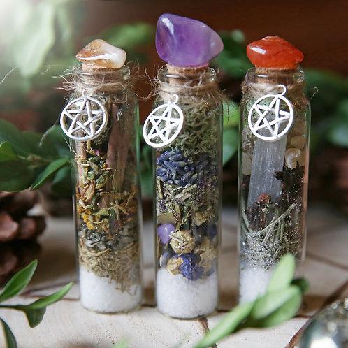 Crystal Witch Terrarium Bottle x 3