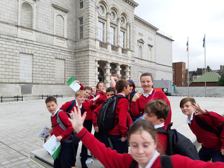 Dáil Visit with 6th Class