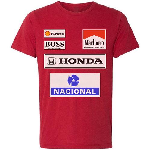 Ayrton Senna Ferrari Racing Suit Shirt