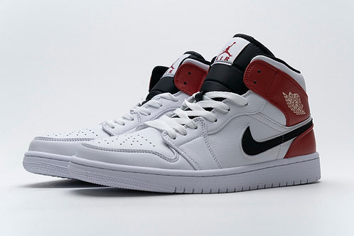 Air Jordan 1 Mid White Black Gym Red