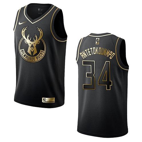 #34 Antetokounmpo Bucks Golden Edition Forması
