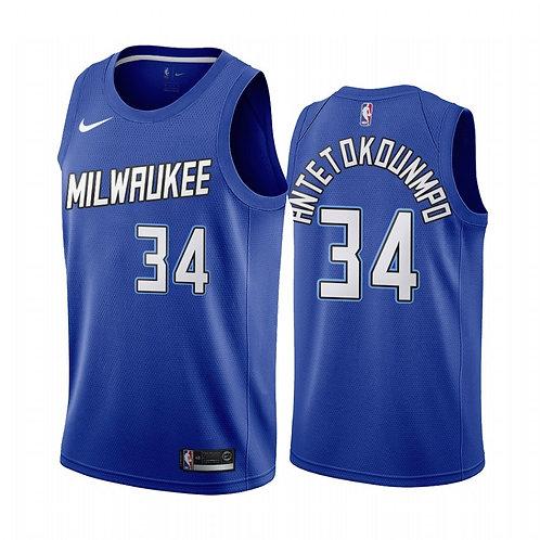 Milwaukee Bucks 2021 Navy City Edition Forması