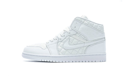 "Air Jordan 1 Mid ""Quilted White"""