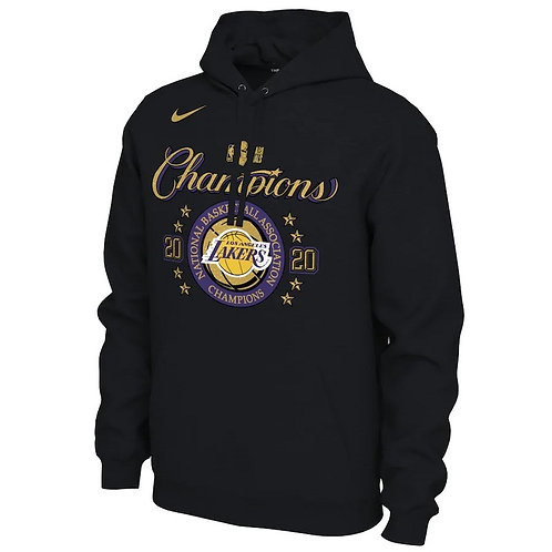 LA Lakers Siyah Final Hoodie