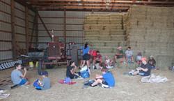 St Martins barn lunch break_8.12