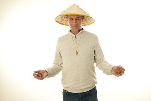 Chapeau de meditation - 2 vitaliseurs -1 pendentif