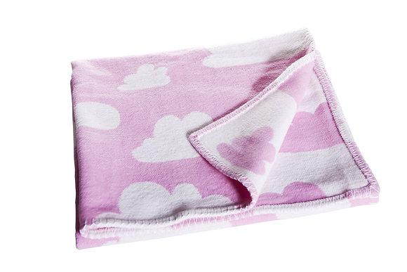 Farg & Form / שמיכת תינוק עבה ורודה עם עננים