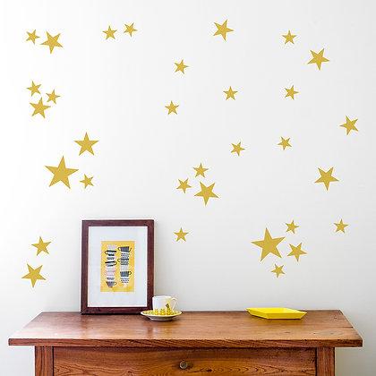 Made of Sundays / מדבקות קיר ״כוכבים״ זהב