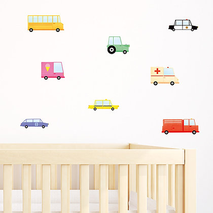 Made of Sundays / מדבקות קיר ״מכוניות״