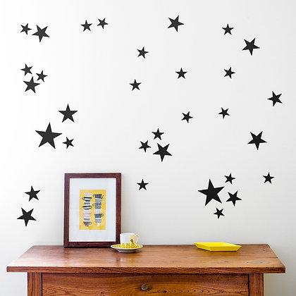 Made of Sundays / מדבקות קיר ״כוכבים״ שחור