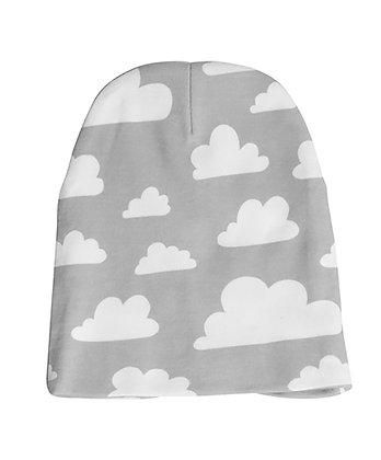Farg & Form / כובע גרב לילדים אפור עננים
