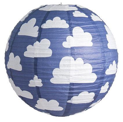 Farg & Form / אהיל נייר כחול עננים