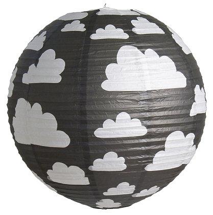 Farg & Form / אהיל נייר שחור עננים