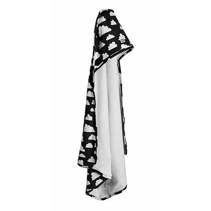 Farg & Form / מגבת קפוצ׳ון שחורה עם עננים