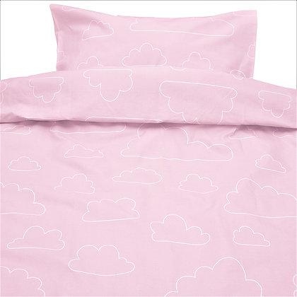 Farg & Form / סדינים למיטת תינוק ורוד בייבי עננים