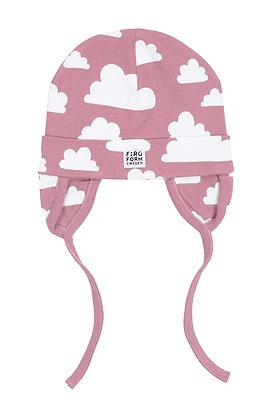 Farg & Form / כובע תינוק ורוד עננים