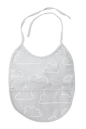 Farg & Form / סינר אפור בהיר עננים