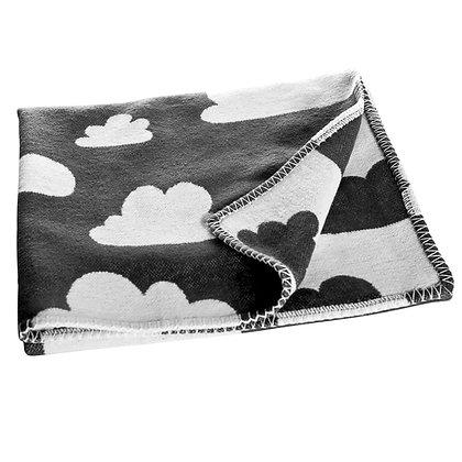 Farg & Form / שמיכת תינוק עבה שחורה עם עננים