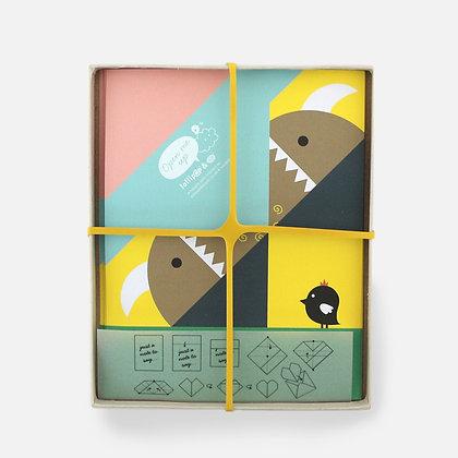 Noodoll / ערכת אוריגמי ״מפלצוני״ 10 דפים