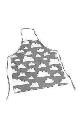 Farg & Form / סינר בישול לילדים אפור עם עננים