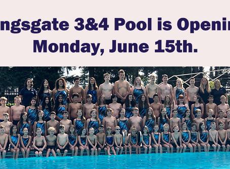 Kingsgate 3&4 Pool Update