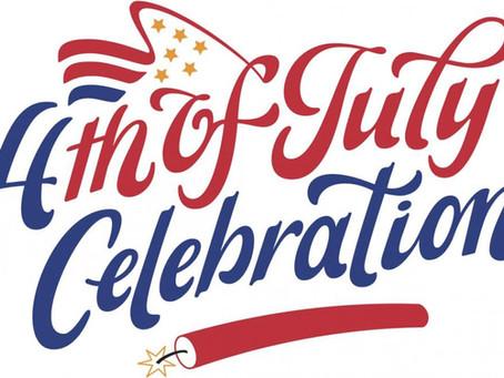 July 4th Celebration - Update