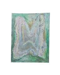 Holo(geo)biont no.7, 2020, watercolour on prepared paper, 15 x 10 cm (6 x 4 in)