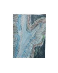 Holo(geo)biont no.17, 2020, watercolour on prepared paper, 15 x 10 cm (6 x 4 in)