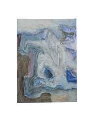 Holo(geo)biont no.15, 2020, watercolour on prepared paper, 15 x 10 cm (6 x 4 in)