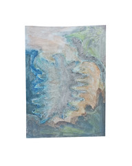 Holo(geo)biont no.6, 2020, watercolour on prepared paper, 15 x 10 cm (6 x 4 in)