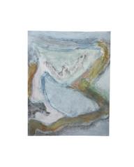 Holo(geo)biont no.5, 2020, watercolour on prepared paper, 15 x 10 cm (6 x 4 in)