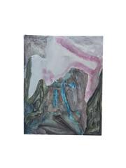 Holo(geo)biont no.9, 2020, watercolour on prepared paper, 15 x 10 cm (6 x 4 in)