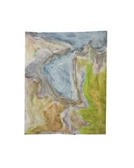 Holo(geo)biont no.13, 2020, watercolour on prepared paper, 15 x 10 cm (6 x 4 in)