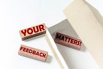 wooden blocks with text YOUR FEEDBACK MA